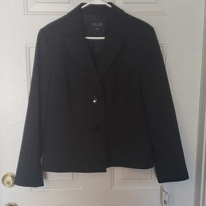 Womens black pin stripe blazer. Suit jacket
